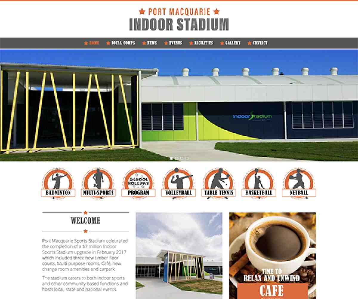 Port Macquarie Indoor Stadium Website