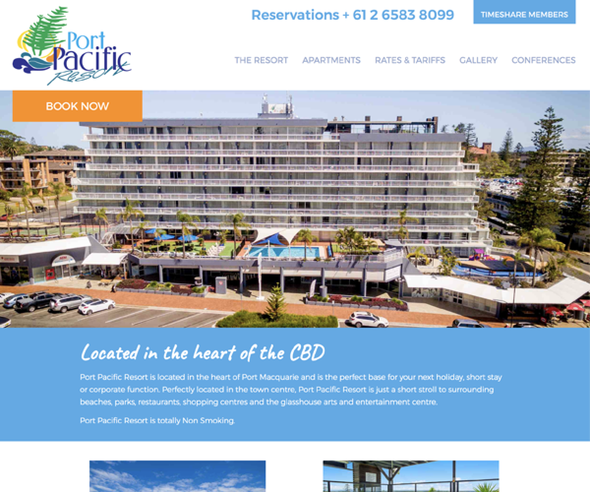 Port Pacific Website