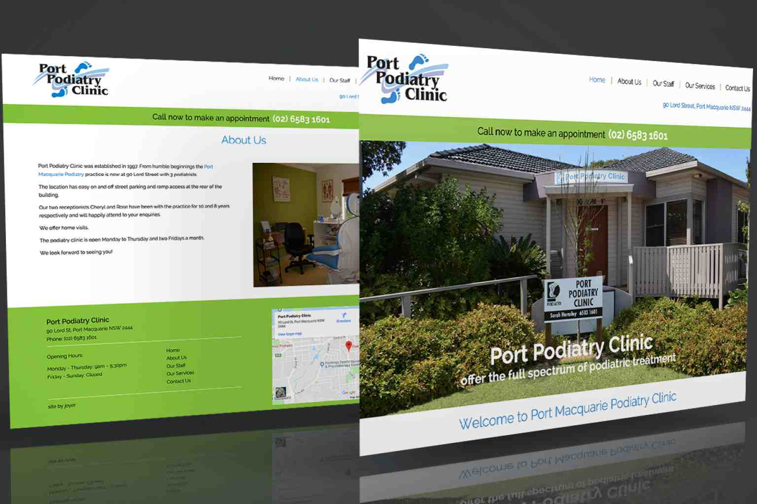 Port Podiatry Clinic Website